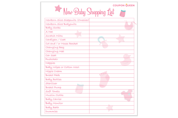 FREE New Baby Shopping Checklist