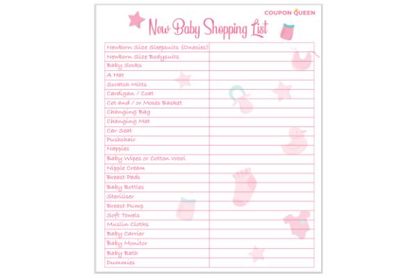 FREE New Baby Shopping Checklist
