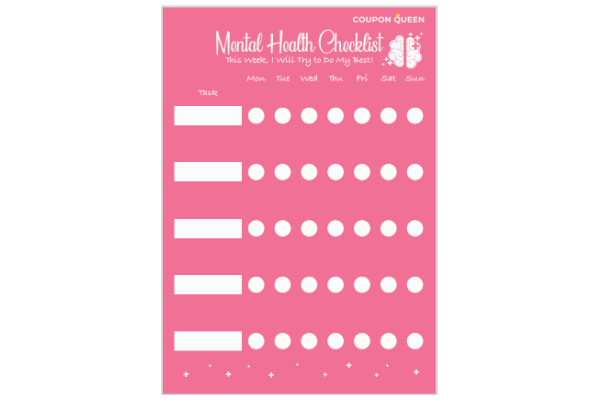 FREE Printable Mental Health Checklist