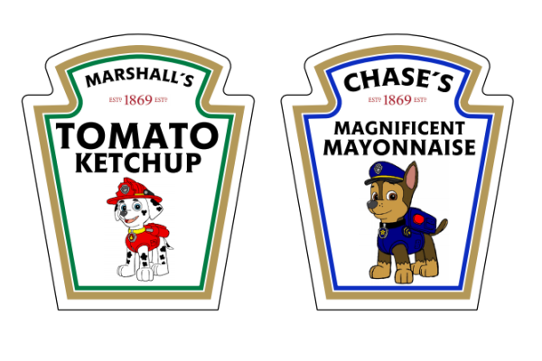 FREE Printable Paw Patrol Condiment Labels