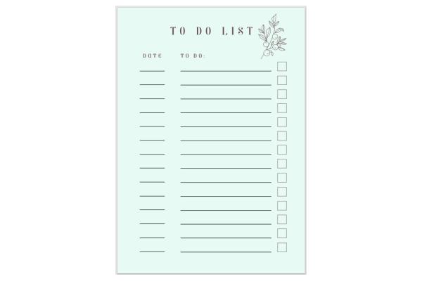 FREE Printable 'To Do List'